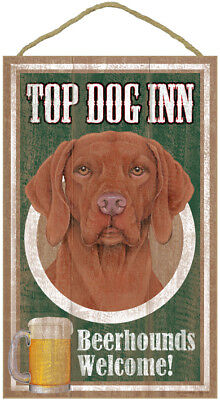 "Top Dog Inn Beerhounds Bar  Vizsla Plaque dog 10""x16"""