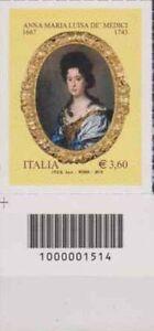 1514-CODICE-A-BARRE-LATO-SINISTRO-O-DESTR-Anna-Maria-Luisa-Medici-3-60-ANNO-2013