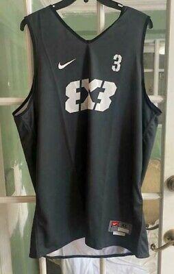Men White Nike FIBA Team 3x3 Reversible AR0651-003 Basketball Jersey Size XL #3