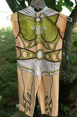 Vintage 1984 Galoob GOLDEN GIRL Halloween Fantasy Costume Size (Golden Girl Halloween Kostüm)