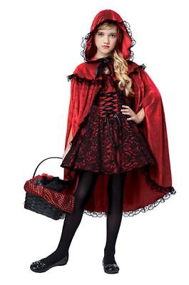 Costumes For Little Red Riding Hood (Deluxe Little Red Riding Hood Costume for Girls XS 4-6 / S 6-8/ M 8-10/ L)