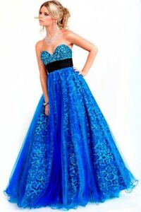 Jovani Ball Gown blue size 4