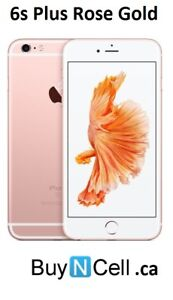 MINT IPHONE 6S PLUS 128GB ROSE GOLD 3 MONTHS WARRANTY $399.99