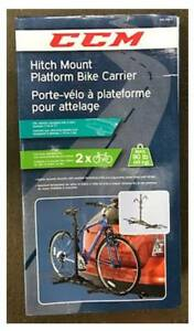 CCM Hitch Mount Platform Bike Carrier for 2 bicycles