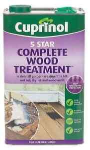 CUPRINOL 5 STAR COMPLETE WOOD TREATMENT 5 LITRE (maybe sent as 2 x 2.5L)