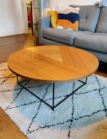 Habitat Walnut Round Coffee Table
