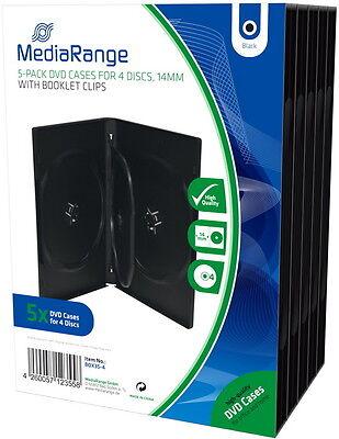10 Mediarange DVD Hüllen 4er Box 14 mm für je 4 BD / CD / DVD
