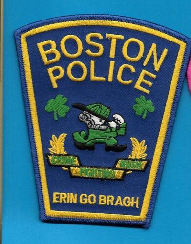 BOSTON MASSACHUSETTS MASS MA POLICE ERIN GO BRAGH SHAMROCK (FIRE) IRISH BPD