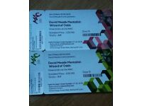 2 x tickets for David Meade Mentalist The Wizard of Odds Sat 3rd March 7.45pm MAC Belfast