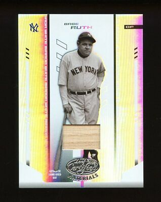 2004 Leaf Certified Materials: Babe Ruth Rare Authentic Used Bat /25