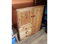 Relisted at a reduced price - Solid pine mini wardrobe
