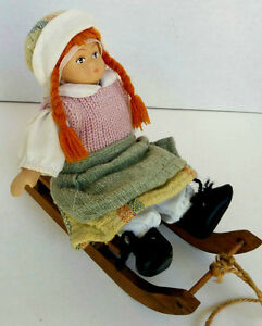 One ALL Hand Made Small Doll on Sleigh  --Pierreonds--- West Island Greater Montréal image 2