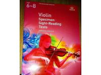 Violin Specimen Sight-Reading Tests, ABRSM Grades 6-8 from 2012