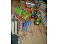 LARGE WOODEN TRAIN SET ALL YOU NEED