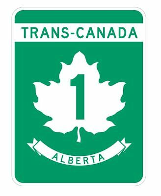Trans Canada Alberta Highway 1 Sticker R3192 Highway Sign