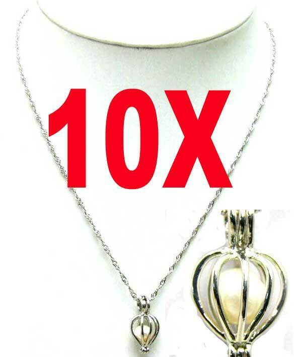 Wholesale 10X Heart Pendant Necklace for Women Natural White Pearl Necklace