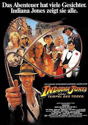 Indiana Jones And The Temple Of Doom  1984  Harrison Ford Movie Poster Print 11