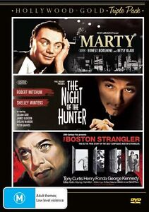 Marty/The Night of the Hunter/The Boston Strangler NEW R4 DVD