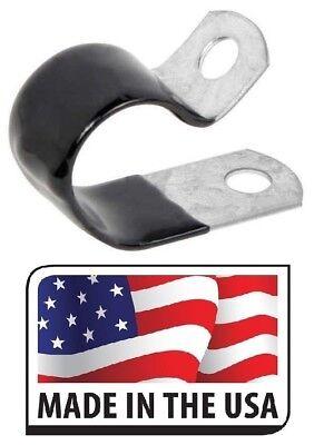 25 1 Black Vinyl Cushion Clamp Galvanized Steel 1 Inch Made In Usa