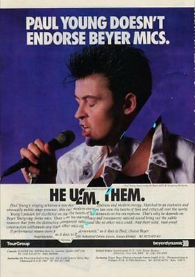 Paul Young International Musician Trade Press Advert