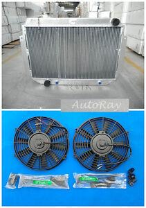 Aluminum Radiator and Fans for Holden HQ HJ HX HZ 253 & 308 V8