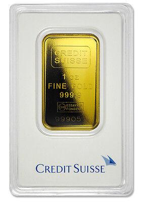 Credit Suisse 1 Troy Oz  9999 Gold Bar   Sealed   Type 2 Plastic Case Sku26782