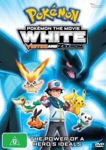 Pokemon The Movie - White - Victini And Zekrom (DVD, 2012), NEW REGION 4