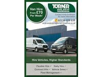 Great Rates on Van Hire - Short term and long term available