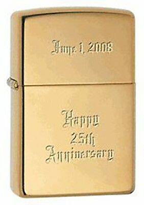 Personalized Genuine Brass Zippo Lighter Christmas Gift Father's Day Gift Idea