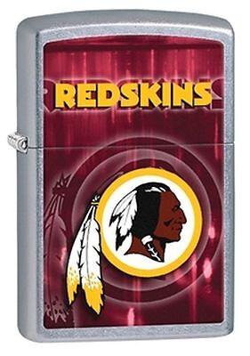 Zippo Street Chrome Lighter With Washington Redskins Logo, 28608, New In Box