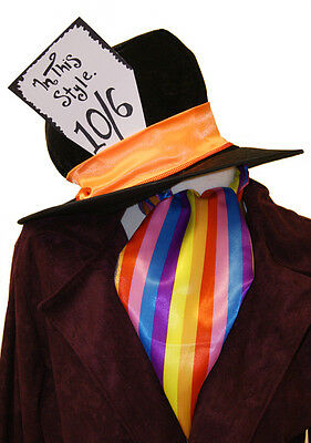 Alice in Wonderland-World Book Day MAD HATTER 10/6 HAT & CRAVAT SET one (Mad Hatter Kostüm 10/6)