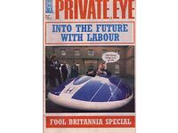 A BARGAIN! Private Eye Issues 949 to 1386, most in Private Eye Binders