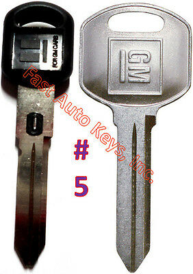 NEW GM Double Sided VATS Ignition Key #5 + Doors/Trunk OEM Key - MADE IN USA
