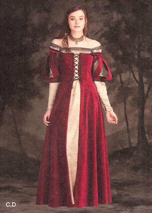 Snow White Evil Queen Costume PATTERN 1773 Simplicity Sz 6-22 Medieval Fantasy