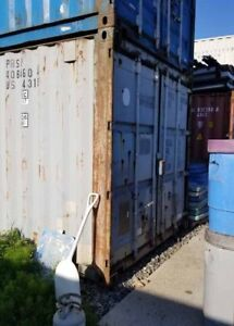 40 ft. (feet) standard height used metal shipping container