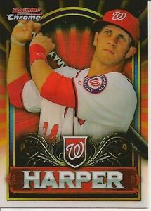 2011 Bowman Chrome Bryce Harper Retail Red #BCE1