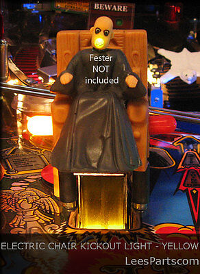 ELECTRIC CHAIR KICKOUT LIGHT Addams Family Pinball - Interactive with Game Play