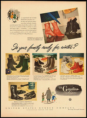 1948 Vintage Ad for U.S. Gaytees Fashion Over the Shoe (112711)