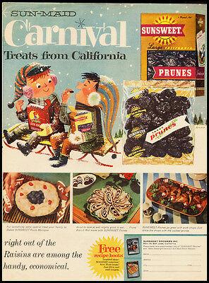 Sun Maid Carnival Treats from California Vintage Ad 1950's Life - Carnival Treats