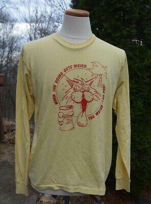 PHI KAPPA PSI '88 Rush (Greek Life) Men's Sz-XL Yellow L/S SHIRT Made in U.S.A.