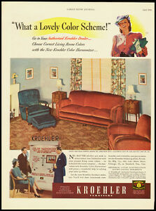 Kroehler Furniture Vintage Ad 1940 101211