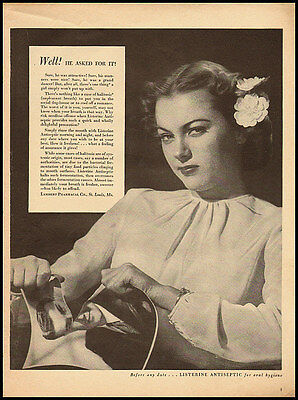 1940s vintage ad for Listerine Antiseptic, 'Well he asked for it.'  -111811
