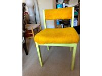 Useful ex office chair for upcycling – yellow furry finish currently! £8
