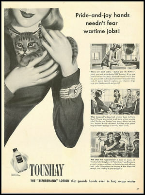 1946 vintage ad for Toushay Beforehand Lotion