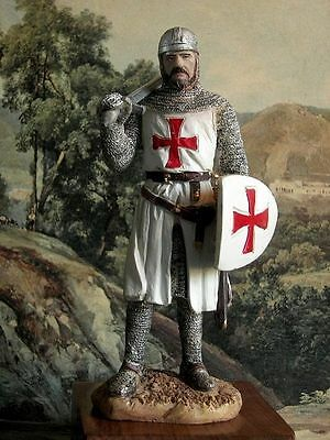 Hand Painted Medieval Crusader Knight of Malta Templar Figure Realistic 15 cm/6""