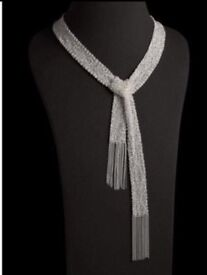 Beautiful handmade sterling silver scarf necklace