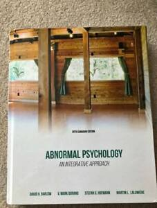 Abnormal Psychology: An Integrative Approach 5th cad. ed. Barlow
