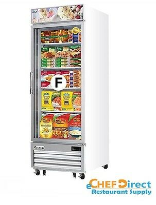 Everest Emgf23 Single Swing Glass Door Merchandiser Freezer