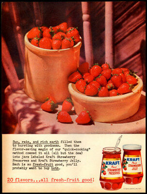 1959 vintage ad for Kraft's Jams and Preserves -358