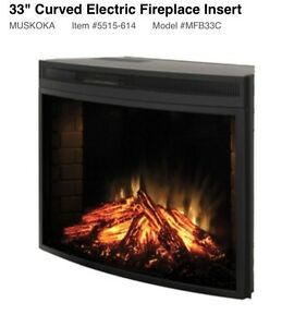 """33"""" curved electric fireplace insert London Ontario image 1"""